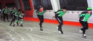 schaatsen op de baan